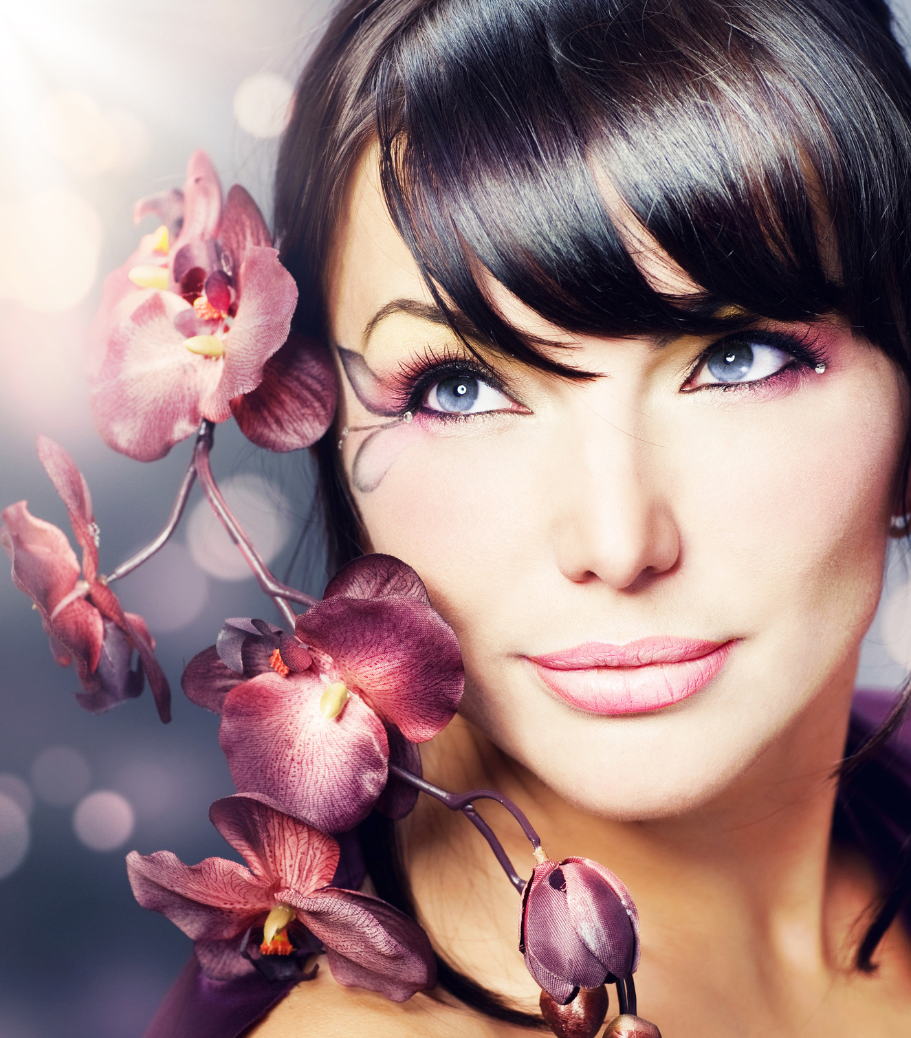Beautiful healthy woman with orchid flower bold reloaded beautiful healthy woman with orchid flower dhlflorist Gallery